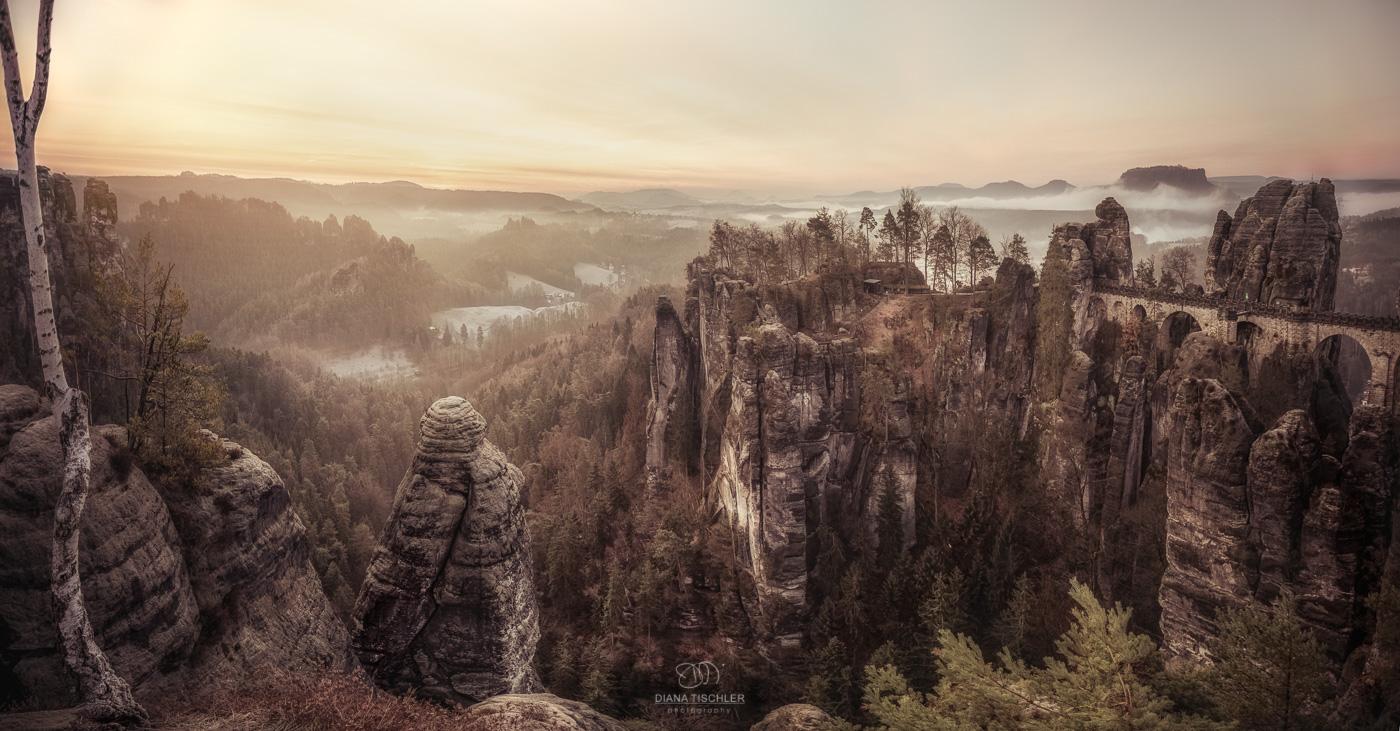 Bastei-Elbsandsteingebirge-Sonnenaufgang_Diana-Tischler-Fotografie